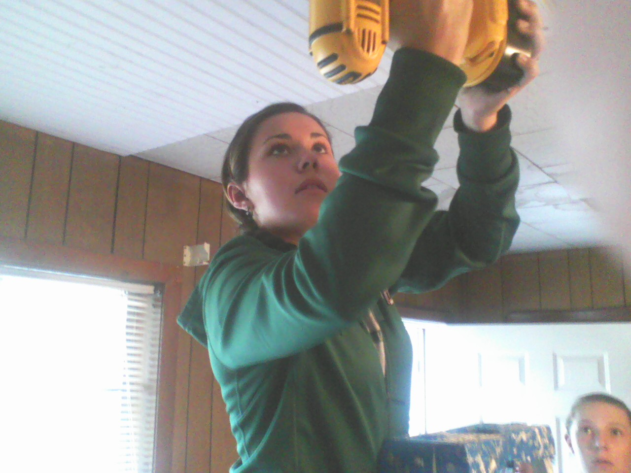 Madison was relentless with the screw gun.