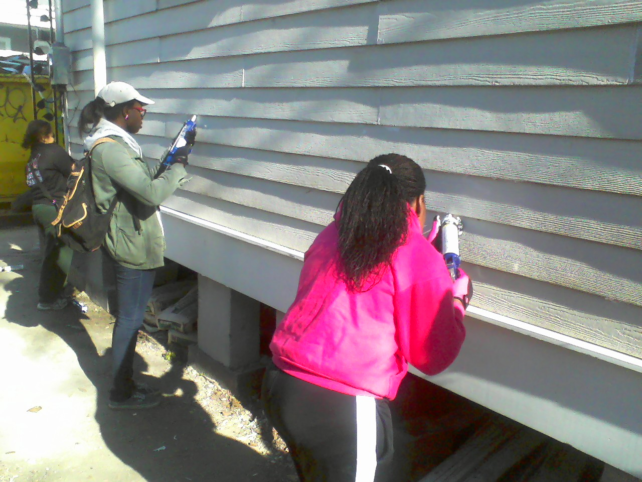 Team caulking.