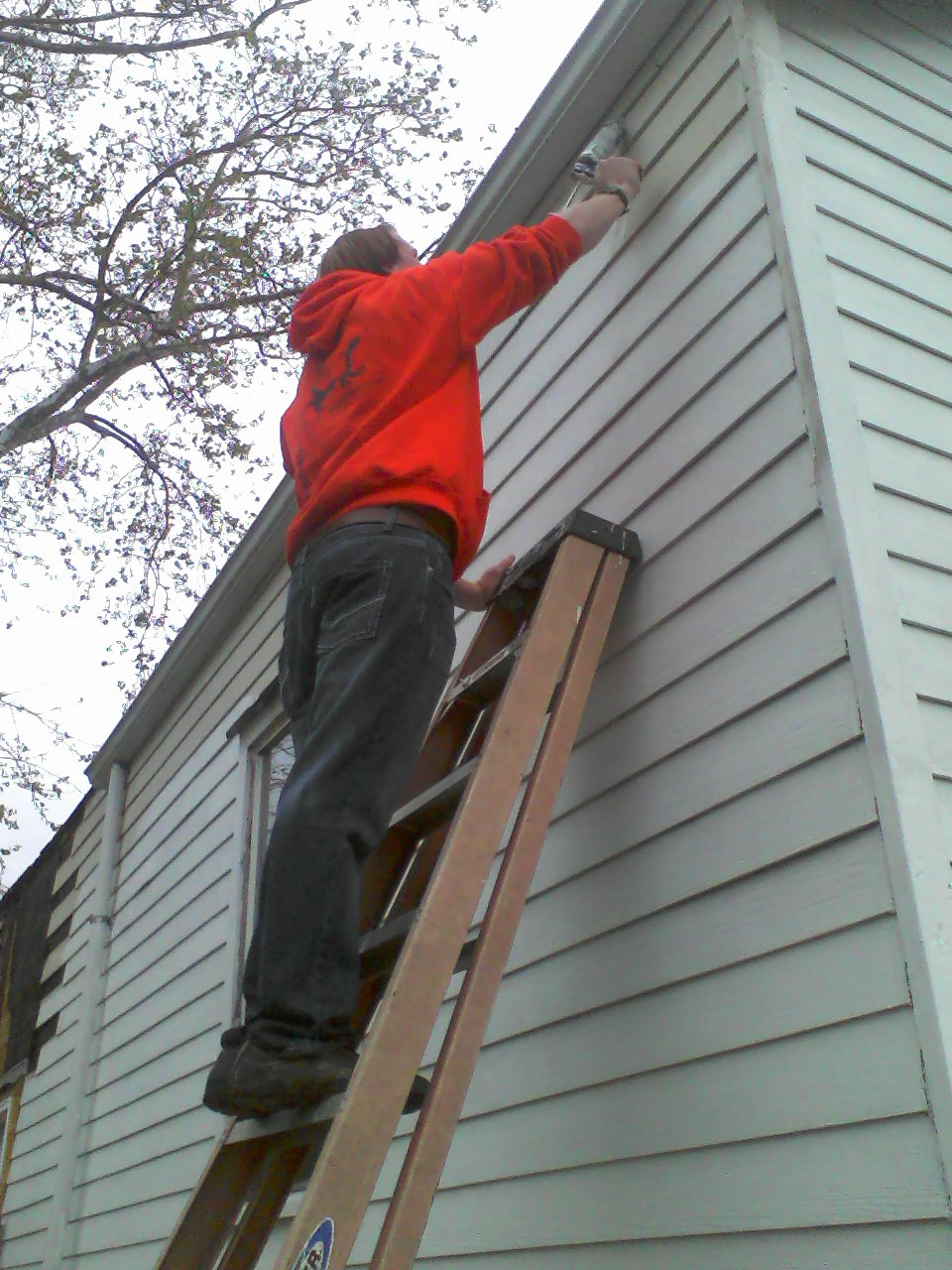 Caulking high...
