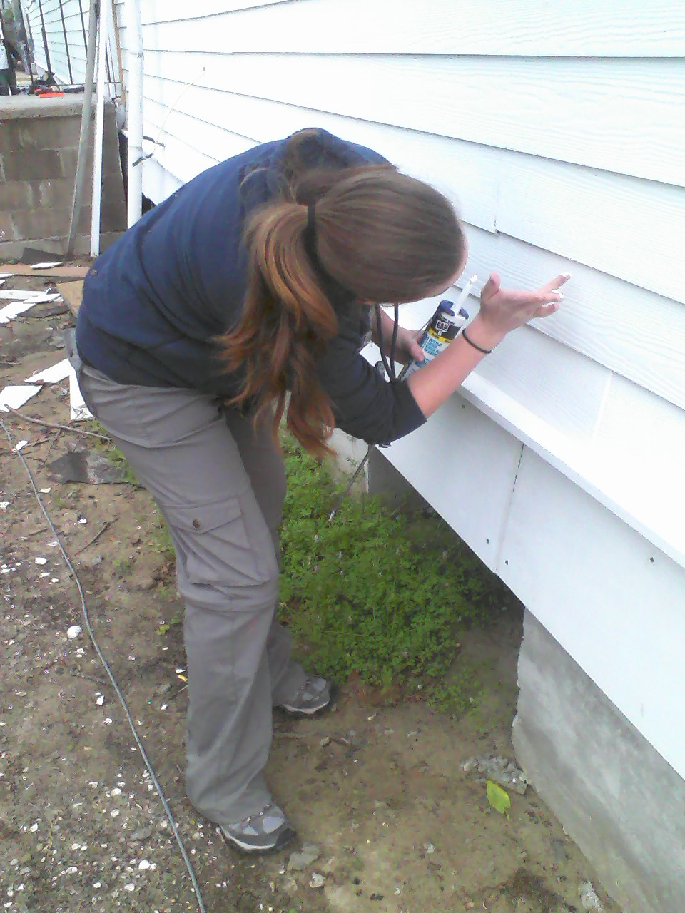 ...and caulking low.