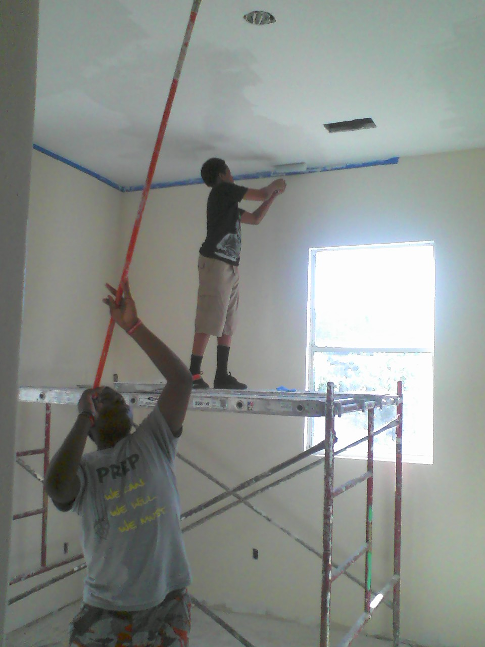 Ceiling touch up at Salcedo.
