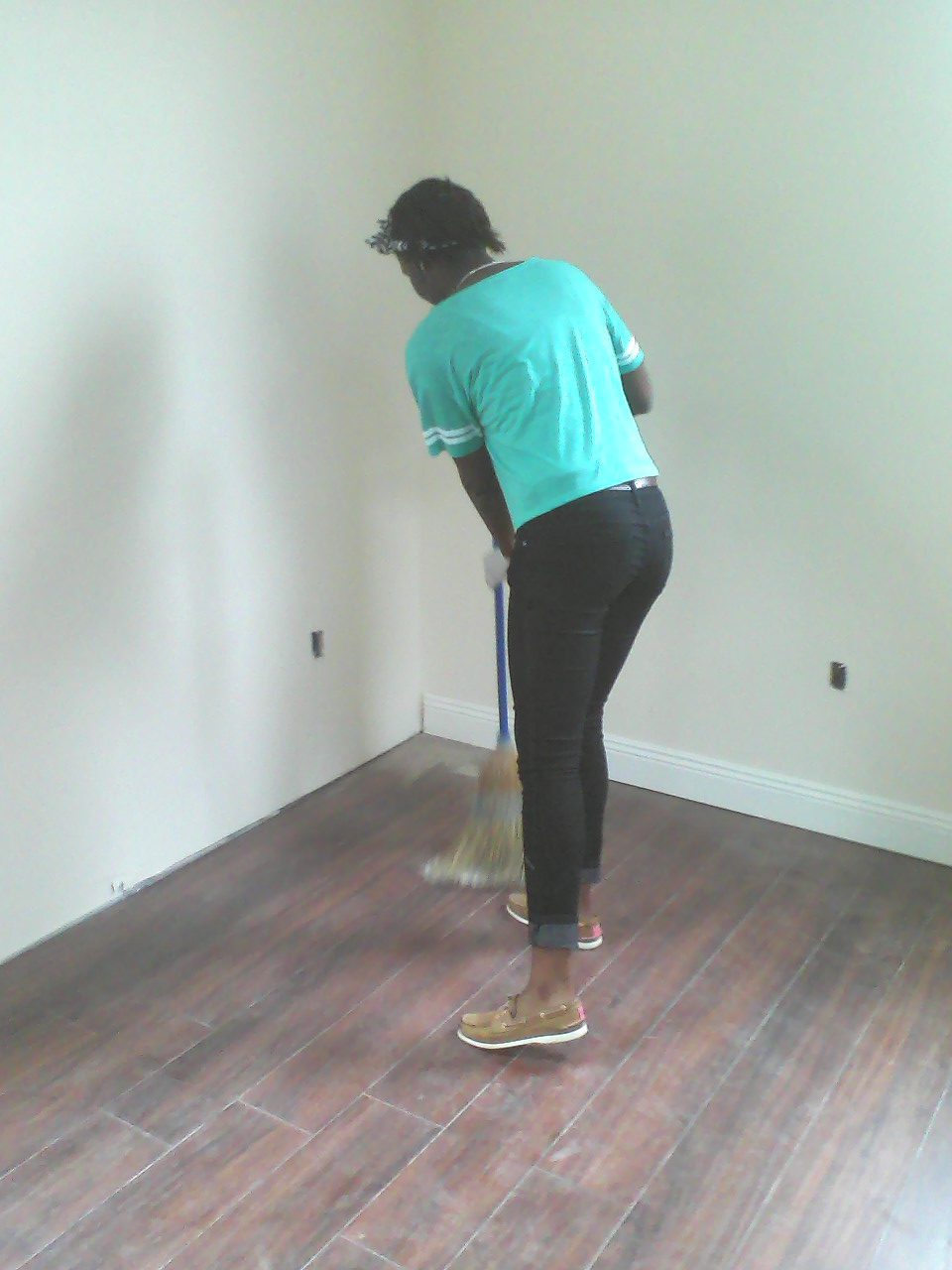 Sweepin' away.