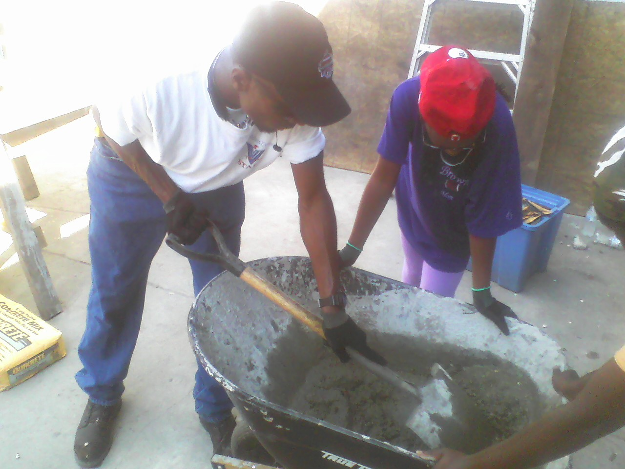 Making cement!
